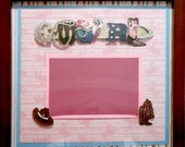 COUNTRY GIRL Memory Album Page (Cherry Veneer Shadow Box Frame Sold Separately)