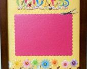 GARDEN GODDESS Scrapbook Art with Walnut Veneer Shadow Box Frame