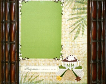 ISLAND MEMORIES Embellished Photo Mat with Bamboo Frame