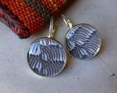 Costa Rica Leaf.  Short Dangle Photo Earrings. Sterling Silver
