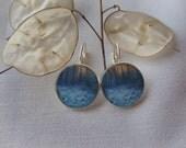 Alaska Rocks.  Short Dangle Photo Earrings.