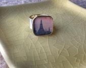 Bangkok Temple.  Silver Adjustable Photo Ring
