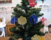 U Pick 2 Machine embroidered Christman Ornaments