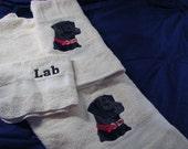 Black Lab Towel Set