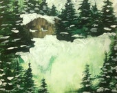 Cabin in the Woods Acrylic Painting