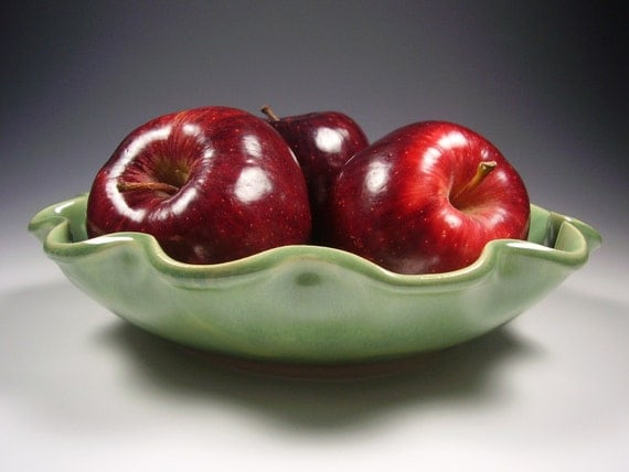 Ceramic Pottery Bowl - Serving/Salad/Pasta/Fruit - Hand Built Stoneware and Porcelain Blend - Made To Order