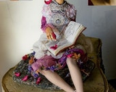 she is reading ,,The Thorn Birds,,(PORTRAIT DOLL EXAMPLE )