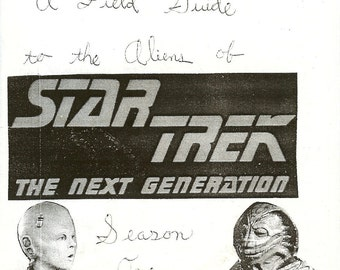Field Guide to the Aliens of Star Trek: The Next Generation, Season One (Zine)