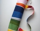 Yoga Mat Bag Colorful Rainbow Handmade Yogamattentasche Handgemacht