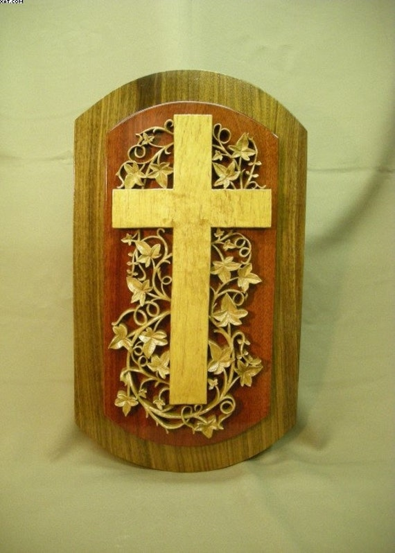 Items similar to carved cross religious carving