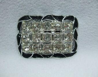 Vintage Rhinestone Scarf or Dress or Shoe Brooch Clip