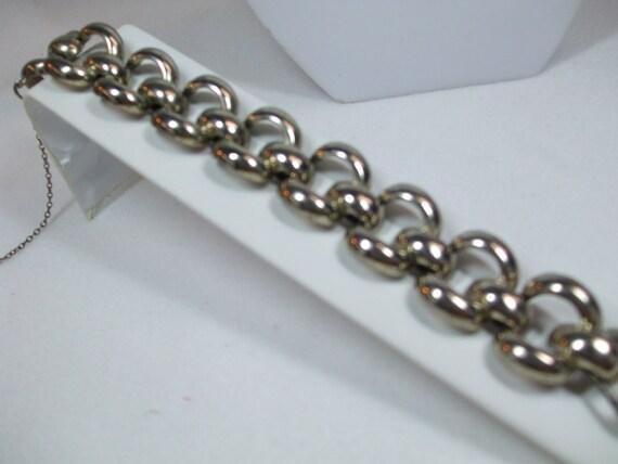 Vintage Signed Monet Large Link Bracelet