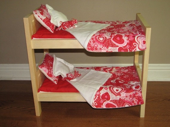 american girl doll bunk bed bedding set. Black Bedroom Furniture Sets. Home Design Ideas
