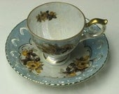 Wonderful Condition -- Vintage Luster ware tiny teacup with lace edging