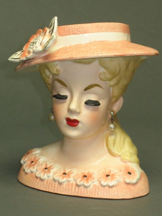 Items Similar To One Of My Favorite Rubens Lady Head Vases