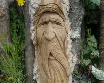 Hand Carved Wood Spirit ( Orders Only )