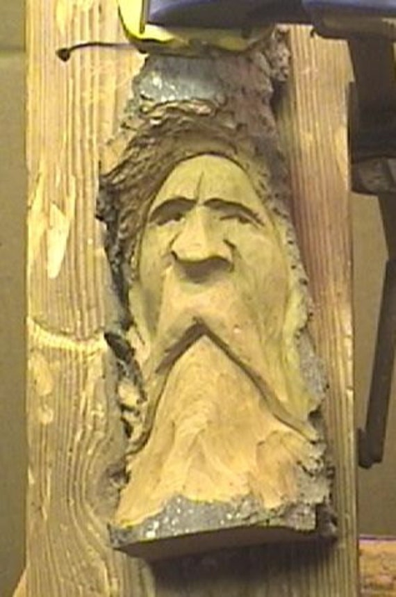 How to carve a cottonwood bark wood spirit dvd