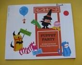 Vintage Scholastic 1971 Puppet Party Children's Craft Book by Goldie Taub Chernoff