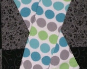 Blue, Green, Grey Polka Dot Baby Leg Warmers