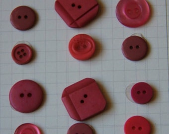Mauve Buttons for Sewing, Scrapbooking, Crafts