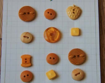 Golden Buttons for Sewing, Scrapbooking, Crafts