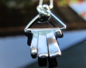 Hamsa - Sterling Silver Pendant Handmade From Israel