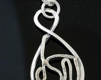 MAZAL - Luck  Charm - Tears Of Joy -  Sterling Silver  Pendant Handmade From Israel