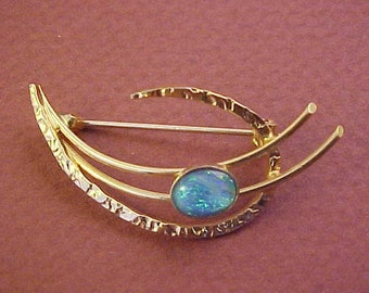 Vintage Small Dainty Design Pin, Goldtone
