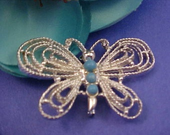 Vintage GERRYS Designer Signed Butterfly Brooch/Pin