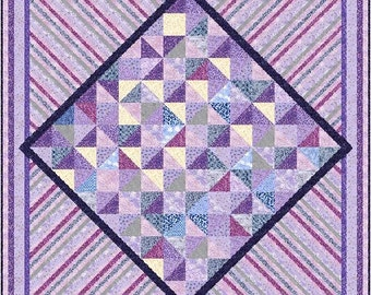 """ULTRA VIOLET - 97.5"""" - Quilt-Addicts Pre-cut Quilt Kit or Finished Quilt King size"""