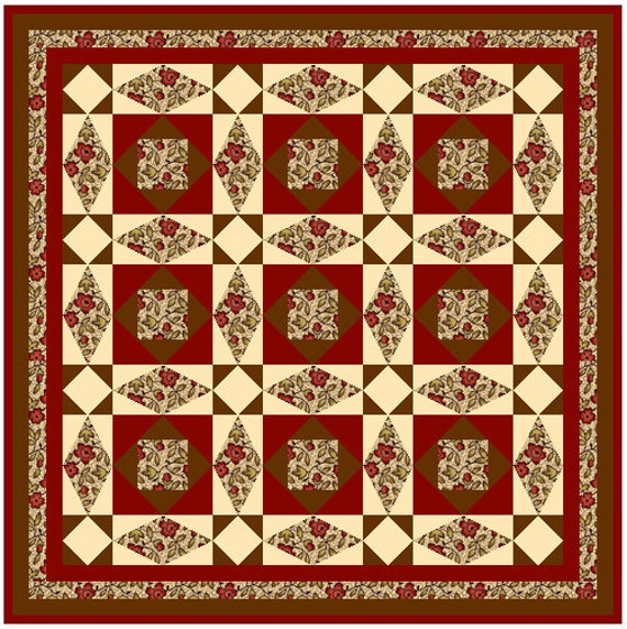 "AUTUMN BREEZE - 37"" - Quilt-Addicts Pre-cut Patchwork Quilt Kit or Finished Quilt Hanging size"