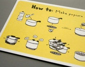 How To Make Popcorn - Postcard