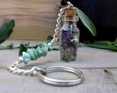 Amulet Keychain, Travel Amulet, Travel  Protection, Travel Talisman, Magick and Spells, Witchcraft, Wicca, Spell Bottle, Witch's Bottle