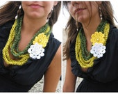 Crochet Necklaces - 2 pcs - Discounted Price - Green/Yellow