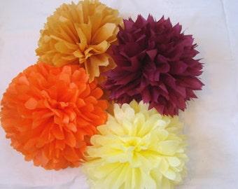 Set of 20 Tissue Poms ................Pick Your Colors