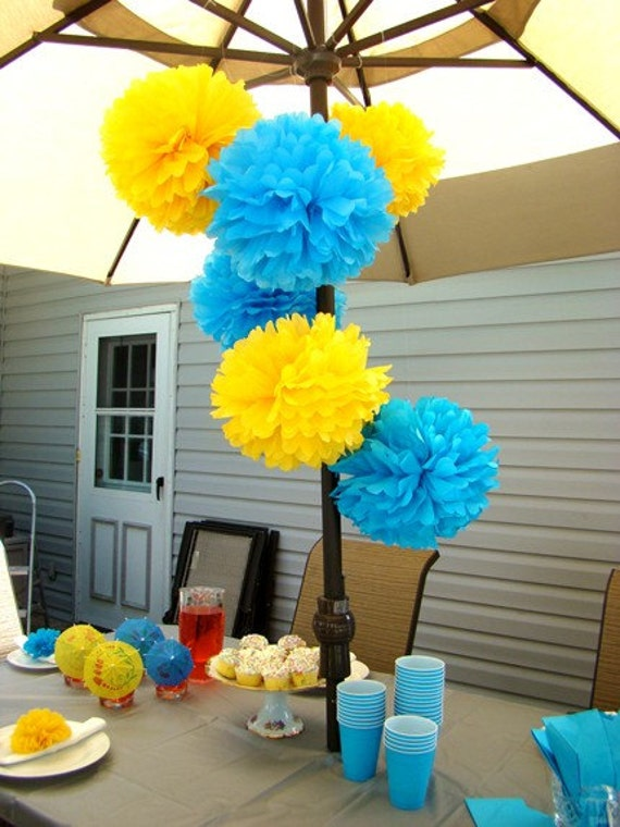 Set of 12 Tissue Poms...ON SALE.....Pick Your Colors