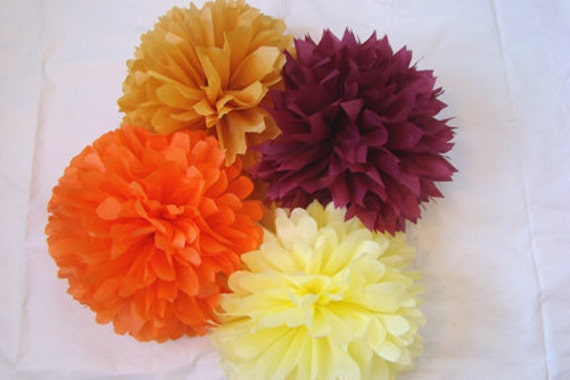 Set of 20 Tissue Poms ............Get 2 extra FREE.....Pick Your Colors