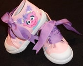 Abby Cadabby Pink High Top Hand Painted Shoes