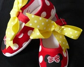 Sale Minnie Mouse Red Mary Jane Shoes-Size 4