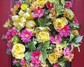 A Spring Dream  Decorative Door Wreath
