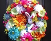 Easter Wreath, Spring Wreaths, Bunny Wreath, Conni, Spring Door Wreath, Easter Decoration, Front Door Wreath