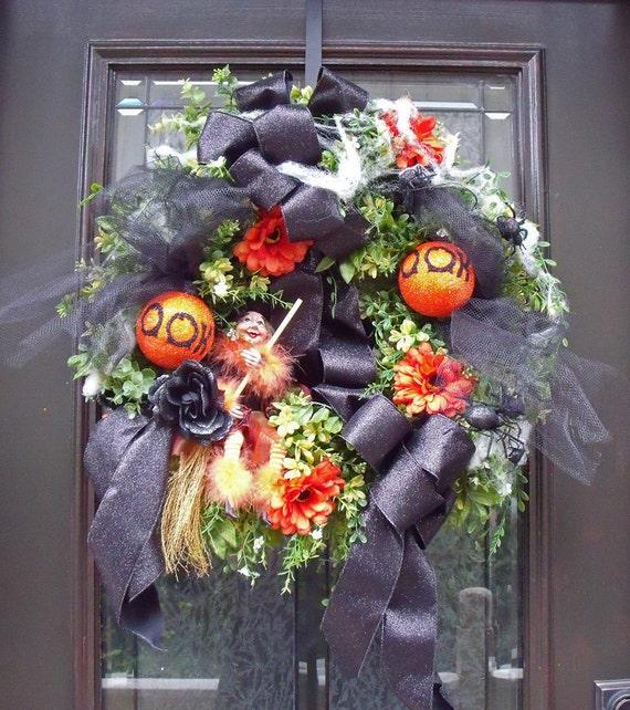 Halloween Wreath Nice Witch Wreath Fall Wreaths Door Wreaths Outdoor Decoration