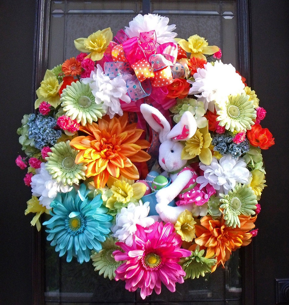 Easter Wreath Spring Wreaths Bunny Wreath Conni Spring