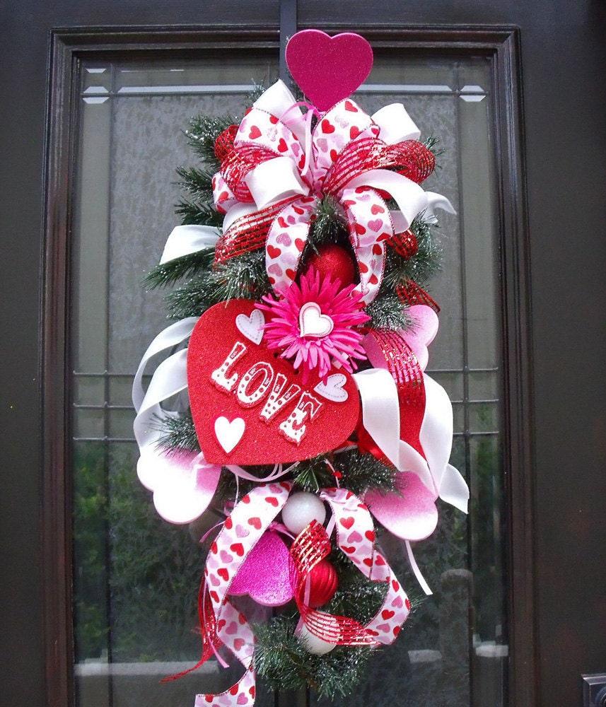 Valentine Wreath Valentine's Day Door Wreath Candy