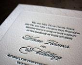 Gatsby Letterpress Wedding Invitation Samples