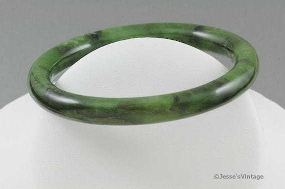 Vintage Bangle Bracelet Faux Jade or Soapstone