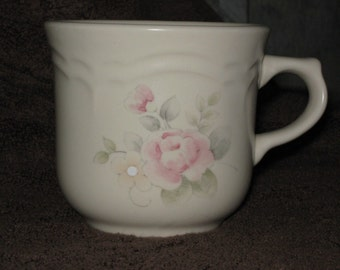 PFALTZGRAFF TEA ROSE PATTERN COFFEE MUG, MADE IN U.S.A