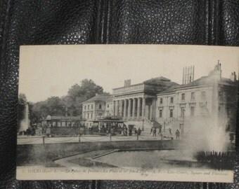 FRANCE,1900's TOURS  , Le Palais de Justice , La place et les Jets d'Eau , A.P