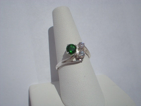 Chrome Diopside Sterling Ring