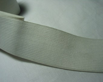 5 yds, 1-1/4' inch Knitted Elastic 5 yards - black or white